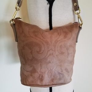 Valentina Italian Leather Bucket Bag